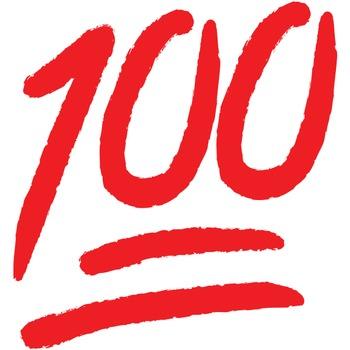 """Vinyl Graphic """"100"""""""