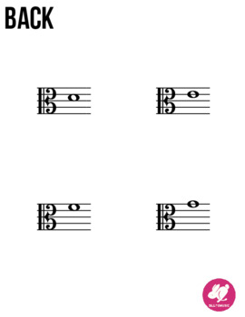 Viola Alto Clef Range - Memory & Matching Card Game for Strings