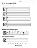 Viola D String Notes Worksheet