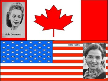 Viola Desmond and Rosa Parks