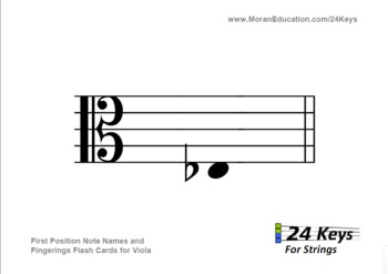 Viola Flash Cards - First Position