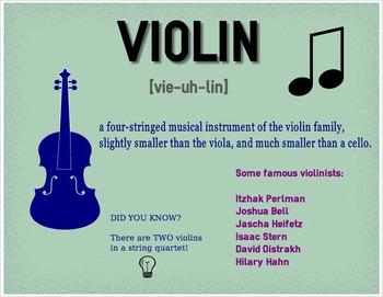 Violin and Viola Infographics