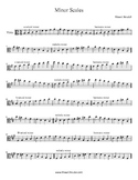 Viola Minor Scales Book (1 and 2 octave)