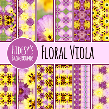 Viola / Pansy Digital Papers / Patterns / Backgrounds Clip Art Commercial Use