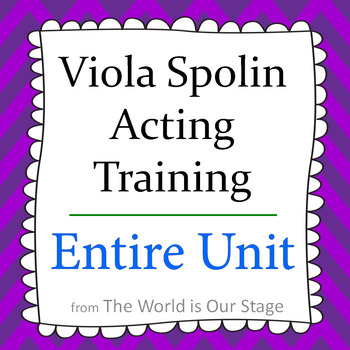 Viola Spolin Acting Training Technique Theatre Theater Drama Entire Unit