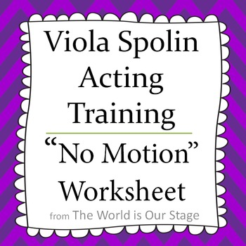 Viola Spolin No Motion Warm-Up Acting Activity Technique L