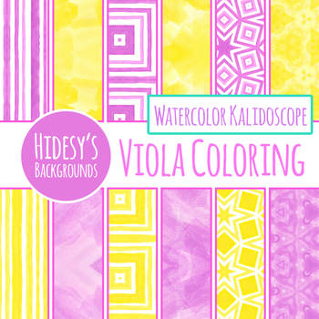 Viola Yellow and Purple Backgrounds / Digital Papers Clip Art Set