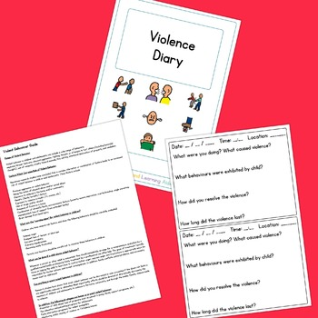 Violence Diary - Boardmaker Visual Aids for Autism
