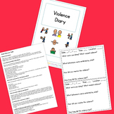 Violence Diary - Boardmaker Visual Aids for Autism SPED