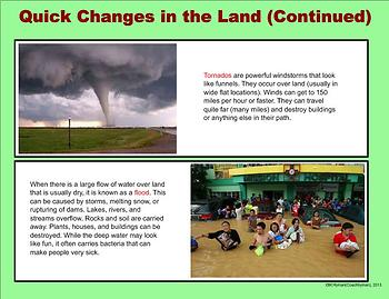 Violent Weather and Other Rapid Land Changes - A Third Grade PowerPoint Intro