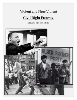 Violent and Non Violent Civil Rights Protests - Stimulus Based Questions