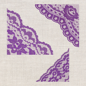 Violet Corner Borders