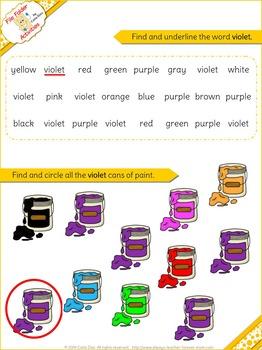 Violet - File Folder Activity Set
