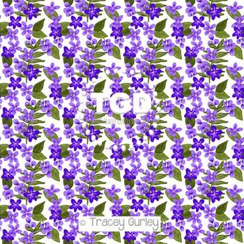 Violet Flower digital paper Printable Tracey Gurley Designs