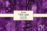 Violet Glam Digital Paper - seamless purple textures