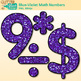 Blue-Violet Glitter Math Numbers Clip Art {Great for Classroom Decor, Resources}