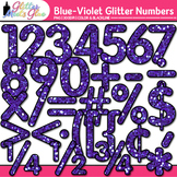 Violet Glitter Math Numbers Clip Art {Great for Classroom