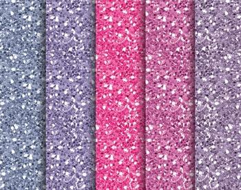 Violet Glitter Papers, Violet, Glitter, Set #255