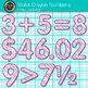 Violet Math Numbers Clip Art {Great for Classroom Decor & Resources}