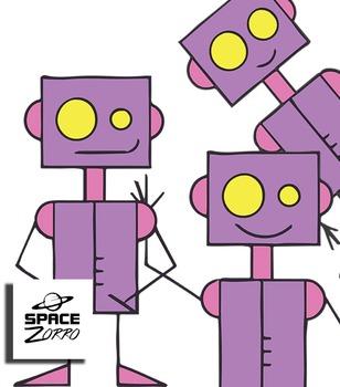 Violet Robots ( 3 images )
