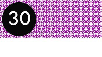 Violet Tile Pattern Timer