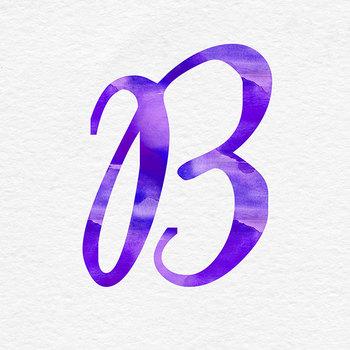 Violet Watercolor Alphabet
