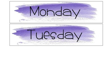 Violet Watercolor Drawer Lables