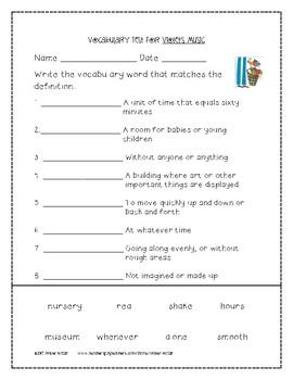 Violet's Music 2nd Grade Journeys Unit 3, Lesson 12 © 2011