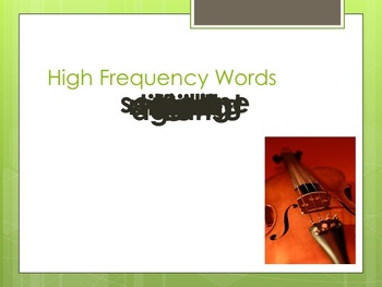 Violet's Music Harcourt Journeys 2nd Grade Power Point