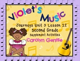 Violet's Music Journeys Unit 3 Lesson 12 Second Grade Supplement Activities