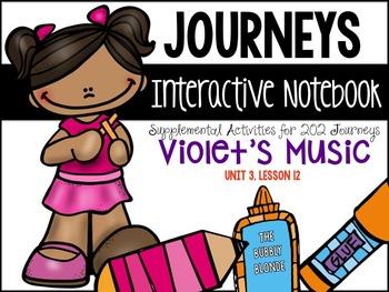 Violet's Music Unit 3, Lesson 12- Journeys Print & Go with