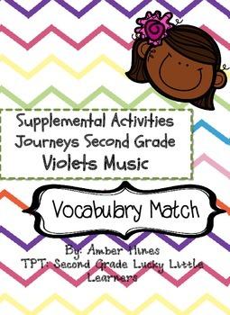 Violets Music Vocabulary Match