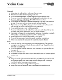 Violin Care Handout