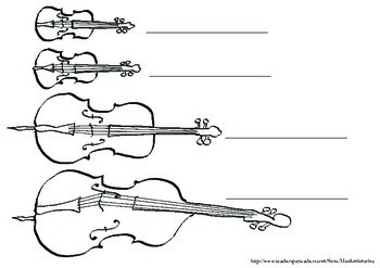 Violin Family (violin, viola, cello, double bass)