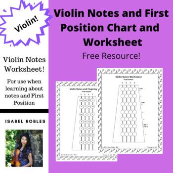Violin Fingerboard Chart and Worksheet