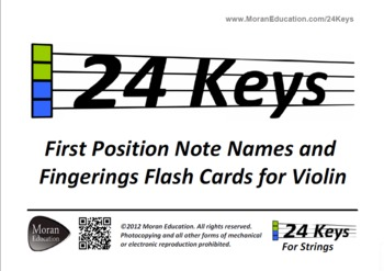 Violin Flash Cards - First Position