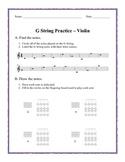 Violin G String Practice