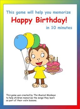 Violin Games - Happy Birthday