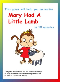 Violin Games - Mary has a Little Lamb