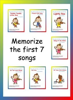 Violin Games: 7 Beginner Songs (Suzuki)