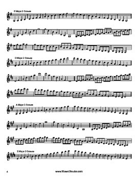 Violin Major Scales Book (1 and 2 octave)