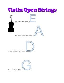 Violin Open Strings
