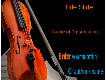 Violin PPT Template