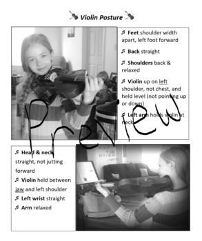 Violin Posture Chart