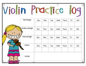 Violin Practice Logs