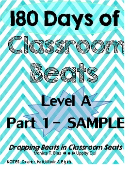 12 DAY SAMPLE: 180 Days of Classroom Beats - Level A - Part 1 - and 3 Mix Tracks