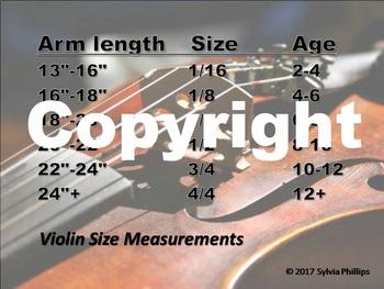Violin Sizing Chart