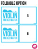 Violin Treble Clef Range - Memory & Matching Card Game