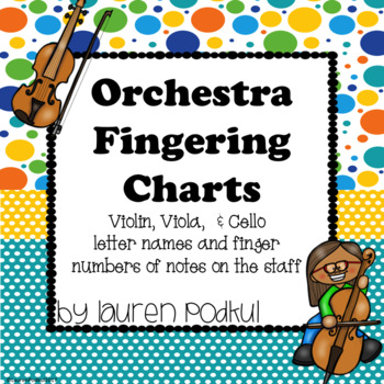 Violin Viola And Cello Fingering Chart By Lauren Podkul  Tpt