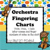 Violin, Viola, and Cello Fingering Chart